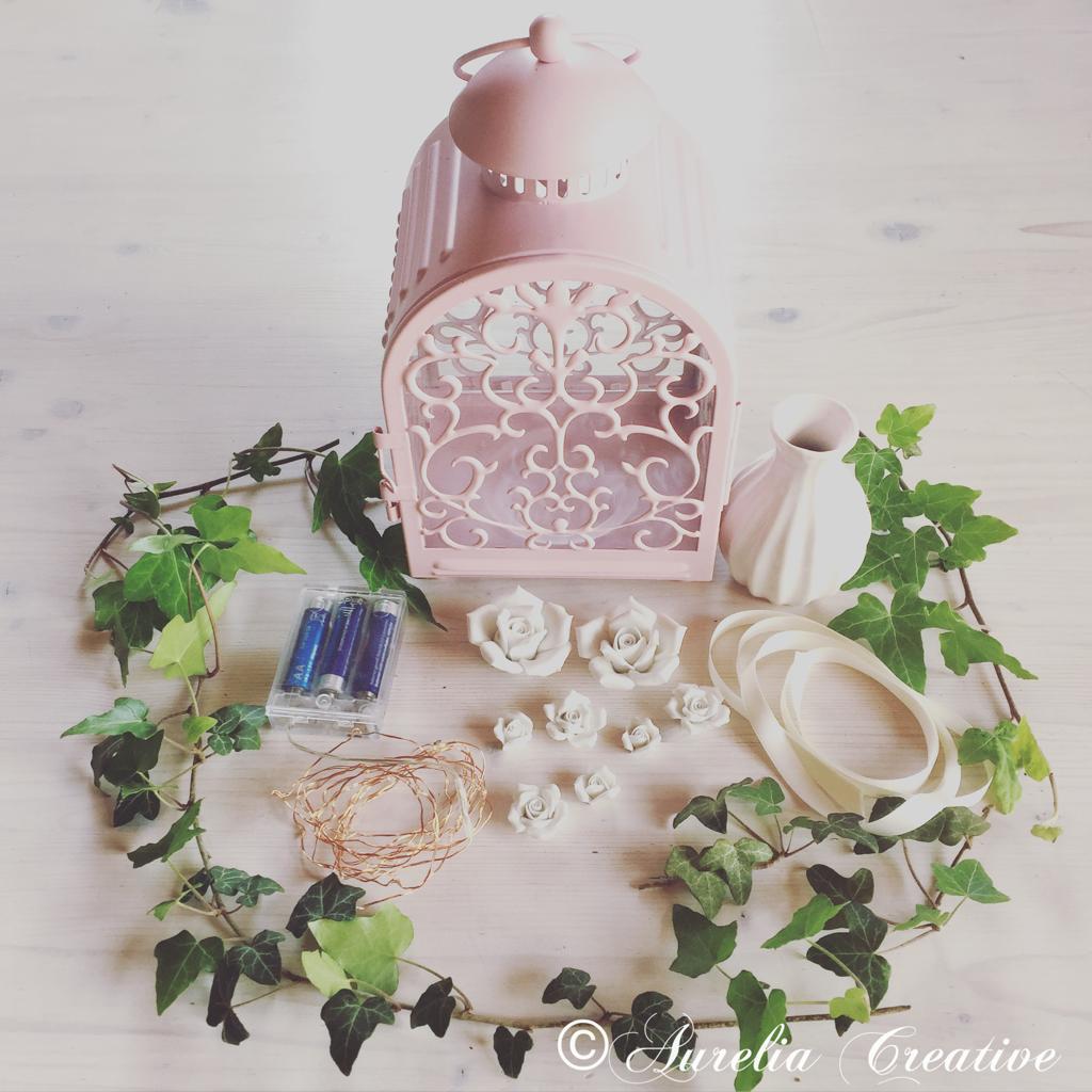 Kleine rosa Laterne 🌸 Frühlingshafte Dekoidee