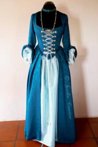 Aurelia Creative barockes Larp Ballkleid in Blau fertiges Outfit