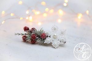 weihnachtlicher haarschmuck by Aurelia Creative