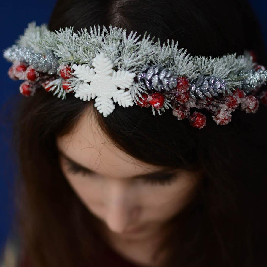 Weihnachtliches Headpiece Tutorial