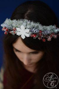 weihnachtliches headpiece by Aurelia Creative