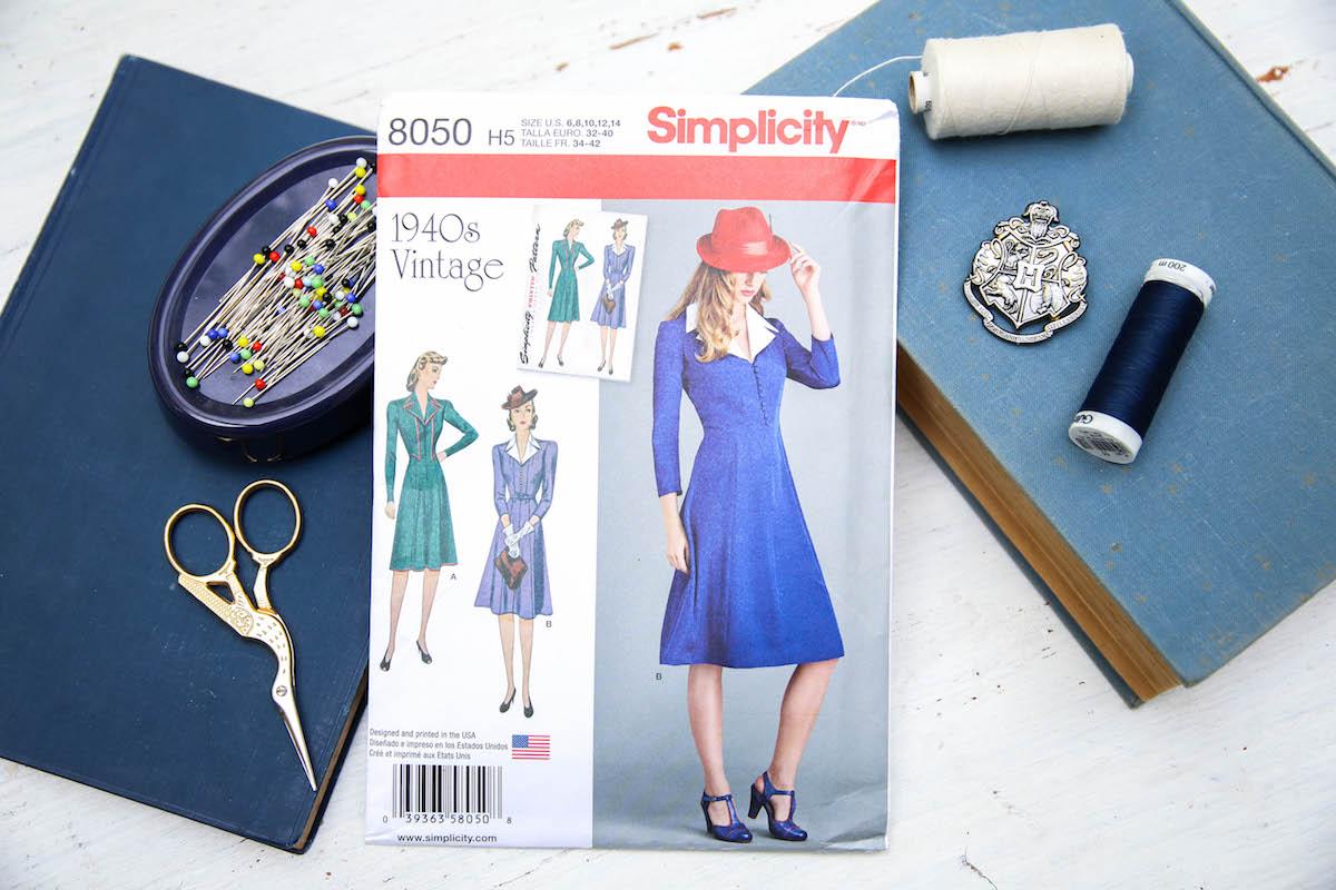 Review: Simplicity 8050 – 40er Jahre Kleid