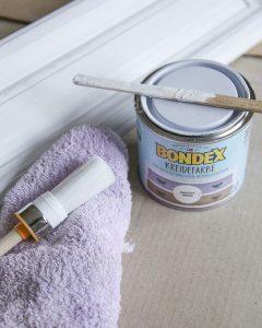 Kreidefarbe von Bonde für den Anstrich meiner Shabby Chic Küche.