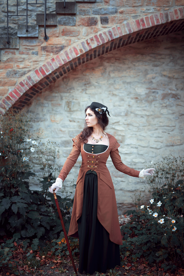 Steampunk Fotoshooting in Herbstfarben