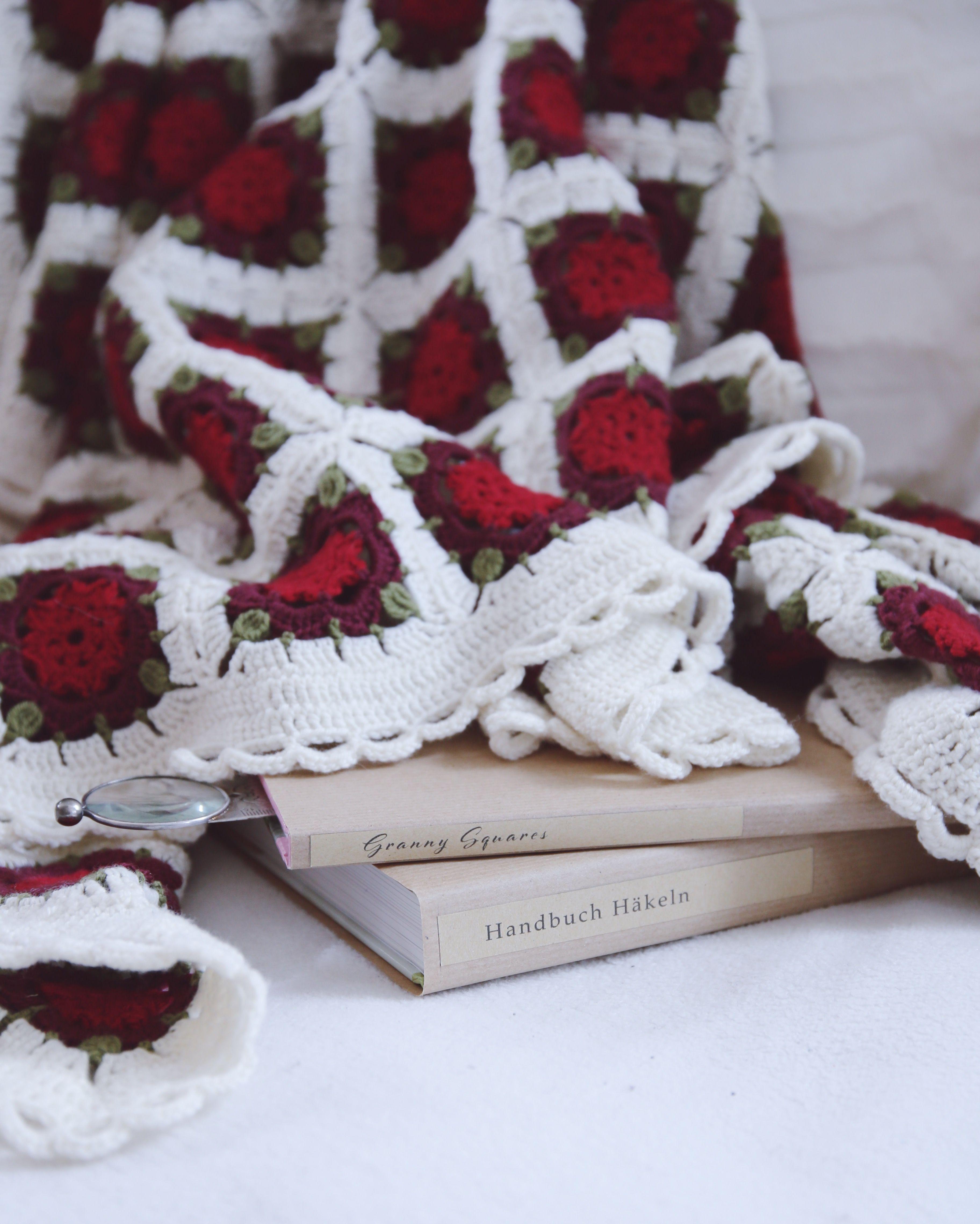 Ein Blütenmeer aus Wolle – Meine Häkeldecke